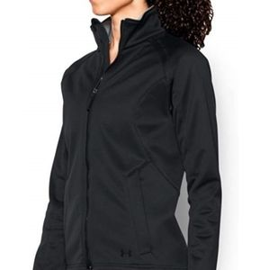 Under Armour Women's Softshell Jacket, Black